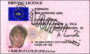 UK Driving Licence.