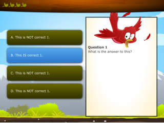 Image of an e-learning multiple-choice question.